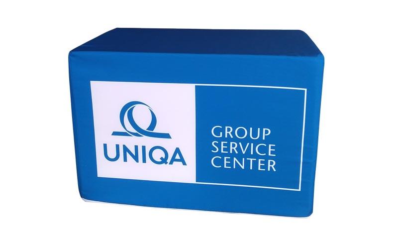 Výroba na zakázku - kocka na sedenie UNIQA