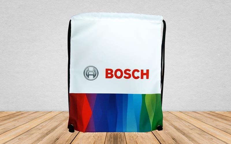 Výroba na objednávku - plnoplošná tlač a konfekcia - vak Bosch