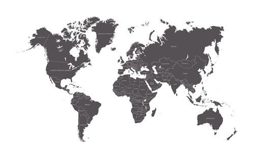 Stolové zástavky - štáty sveta